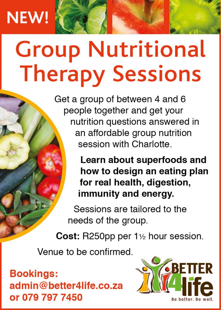 Group Nutritional Theraphy Sessions