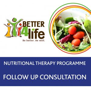 Nutritional therapy follow up consultation